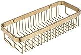 HTL Lagerung Regal Badezimmer Regal Goldene Rack-Creative-Net Korb Badezimmer Wc Badezimmer Kosmetik Gebürstetes Messing Einfach Zu Installieren,32Cm,32Cm