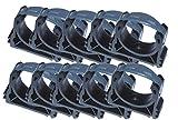 EXCOLO Original PVC Rohr und Rohrverbinder Ø 50 mm Winkel Kniestück Muffen T-Stück Kappen Fittings (10 Wandhalter mit Bügel)
