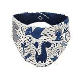 Baby Halstuch Dreieckstuch Dinos blau weiß Handmade Puschel-Design® (0-3 Monate)