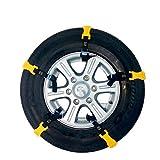 U/K Schneeketten, Autoreifenketten, geeignet für die meisten Auto-Schneeketten mit Einer Breite (Color : Yellow)