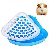 POTWPOT Dreieck Toiletten-Töpfchentrainer, Kaninchentoilette, Hamster, Toilette, Ecktoilette für Kleintiere, Hamster, Chinchilla, Meerschweinchen, Katzen, Hasen, Frettchen (blau)