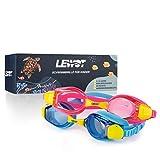 Lewot®️ Taucherbrille Kinder [3-12 Jahre] - Erhöhte Silikon Qualität - Schwimmbrille Kinder inkl. Hardcase & Tasche - Chlorbrille mit Antifog & UV-Schutz - Badebrille für Jungen & Mädchen