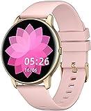 YAMAY Smartwatch für Damen Herren,1.28 Zoll HD Farbdisplay Fitnessuhr Smart Watch mit 13 Trainingsmodi,Fitness Tracker mit Pulsuhr,Schrittzähler,Hunderte von Zifferblättern,Anruf SMS SNS Beachten