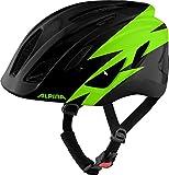 ALPINA Unisex - Kinder, PICO Fahrradhelm, black-green gloss, 50-55 cm