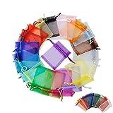 Chytaii 100 Stück Beutel mit Kordelzug, Geschenkbeutel, Schmuckbeutel, Unisex, Farbe 7 x 9 cm