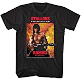 Rambo First Blood Part II Mens T Shirt Movie Poster Stallone No War Can Stop Him Black XL