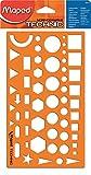 Maped M922410 Geometrie-Schablone, Nomogramm Technic, 1 Stück