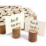 ToPicks 20 Stück Tischkartenhalter Holz, Fotohalter Platzkartenhalter Tischkartenhalter Rustikale für Hochzeit, Party, Familienessen (20 Stück)