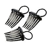Sailsbury Kamm-Haarspange Einstellbarer Komfort Elastischer Haarkamm-Haar-Styling-Werkzeug-Zubehör für Frauen,Girls Hairclips Ponytail Comb Hair Accessory
