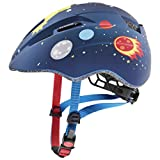 Uvex Unisex Jugend, kid 2 cc Fahrradhelm, dark blue rocket mat, 46-52 cm