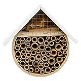 XIONGGG Mason Bee House Garden Dekorativer Hinterhof Insektenhotel Handgefertigter Natürlicher Bambus, Einsamer Einheimischer Bienenstock Lebensraumive