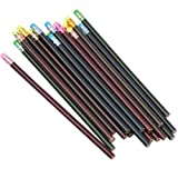 THETHO 30-teiliges Farbwechsel-Stimmungsstift mit Radiergummi-Schwarz-Basis, Farbwechsel, Holzstifte, wärmeaktivierte thermochrome Farbwechselstifte