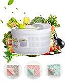 Deer's Life Salatschleuder, groß, 5,3 Quart beste bewertete Gemüsewaschmaschine, Trockner, einfache Einhand-Pump-Bedienung, kompakte Lagerung, perfekt zum Waschen und Trocknen von Blättern, weiß grün