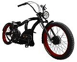 Power-Bikes, Pedelec, E-Bike 250W Fatbike, Cruiser, Fahrrad, rot, schwarz, Black,