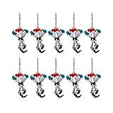 FeiliandaJJ Niedlich Heliumballon Fliegende Katze Taschenanhänger Schlüsselanhänger Auto Anhänger Schlüsselbund für Kinder Mädchen Handtasche Schlüssel Auto (10 Stück)
