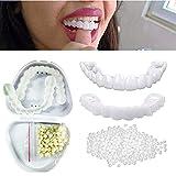 CDBK 2 Paar Veneer-Zähne, Künstliche Zähne, Veneers Snap-In-Zähne, Zähne Dental-Veneers, Instant-Veneers Zahnersatz Gefälschte Zähne Lächeln Männer Und Frauen Sofortige Aufhellung Der Zähne