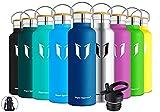 Super Sparrow Trinkflasche Edelstahl Wasserflasche - 750ml - Isolier Flasche mit Perfekte Thermosflasche für Das Laufen, Fitness, Yoga, Im Freien und Camping   Frei von BPA (Blaubeere)