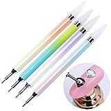 Nagel Stift,Strass Picker Dotting Pen, Dual-Ended Strass Picker, für Nailart, Nageldesign, Strasssteine (4 Stück)
