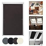 KINLO Thermo Sonnenschutz Dachfensterrollo für Dachfenster S08 und 608 ohne Bohren Verdunklungsrollo Rollo UV Schutz mit Saugnäpfe, Braun 96 x 115 cm