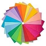 AIEX 50 Blatt Seidenpapier Gemischte Farben Kunstpapier für Kunsthandwerk Geschenkdekoration 20 Farben (70x50 cm)