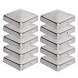 10 x Pfostenkappe für Zaunpfosten (151x151 mm)   Verzinktem Stahl   Pyramiden Form   Abdeckkappe für Holzpfosten VIIRKUJA