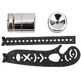 SALUTUYA Tragbares langlebiges magnetisches Kompasslineal Innovatives Mode-Lineal Kompass Leichtgewicht für Designer, Künstler, Architekten(Black, 17mm)