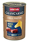 animonda Gran Carno adult Single Protein Hundefutter, Nassfutter für ausgewachsene Hunde, Ross pur, 6 x 400 g, 6er Pack (6 x 0.4 kilograms)