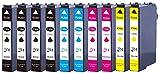 10 XL Druckerpatronen mit CHIP und Füllstandanzeige für Epson WorkForce WF-2010, WF-2010W, WF-2510, WF-2510WF, WF-2520, WF-2520NF, WF-2530, WF-2530WF, WF-2540, WF-2540WF, WF-2630, WF-2630WF, WF-2650, WF-2650DWF, WF-2660, WF-2660DWF