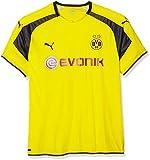 Puma Herren Trikot BVB international Replica Shirt with Sponsor Logo, Cyber Yellow-Black, XL, 749825 11