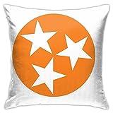 Ssxvjaioervrf Tennessee Orange Tristar Kissenbezüge Kissenbezüge Weiche Kissenschoner für Wohnzimmer Bett Home Bank Sofa 45cm x 45cm Pillow Covers