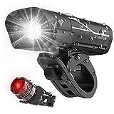 Runfun Fahrrad-licht-Set Helle glühend Nachladbare Scheinwerfer-rücklicht-Set Vorn Hinten Fahrradbeleuchtung Fahrradzubehör