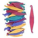 Kieferorthopädische Placer Entferner,40 Stück kieferorthopädische elastische Einweg Kunststoff Zahnspangen für Zahnspangen, gemischte Farbe