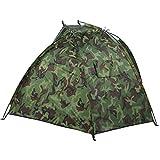 Campingzelt, 220cm * 120cm * 120cm Outdoor Fishing Shelter Tragbares Tarnzelt für 2 Personen für Strandurlaub/Camping/Angeln
