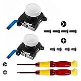 3D Ersatz Joystick Analog Reparatur Set für Joystick-Daumenstifte für Joy-Con-Controller - Dazu gehören Daumenstifte, Tri-Wing, Kreuzschraubendreher und Hebelwerkzeug