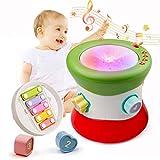 Mini Tudou Baby Handtrommel Musikspielzeug Musikinstrumente Bunt Licht 1-3-6 Jahr Toddles Begleiter Kinder Favorit Multifunktion Elektronisch Spielzeug Lernen für Jungen und Mädchen