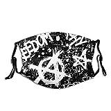Anarchy Freedom Forever Bequeme Gesichtsmaske Sport Winddicht Skimaske Shield Schal Herren Damen mit 2 Filter