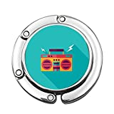 Ghetto Blaster Audio Old School Boombox mit einem Langen Schatten Custom Various Design Pattern Schulterhandtasche