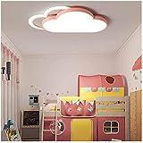 LED Deckenlampe Kinderzimmerlampe Deckenleuchte Augenschutz Kinderlampe,20w,fernbedienung Dimmbar,Kreativ Wolke Kinderzimmer Schlafzimmer Wohnzimmer Junge Mädchen Beleuchtung,L60cm,Rosa