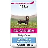 Eukanuba Daily Care Weight Control für kleine & mittelgroße Rassen - Fettarmes Hundefutter zum Gewichtserhalt oder Diät bei Übergewicht, 15 kg