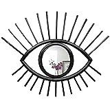 Eye Wall Decor Rattan-Spiegel – handgefertigter Boho-Wandspiegel-Dekor – dieser spektakuläre, künstlerische Augenförmige Spiegel ist auch für das Wohnzimmer, Schlafzimmer, Kinderzimmer – schw