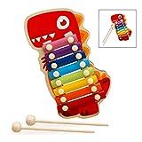 iPobie Xylophon Holzspielzeug Musikinstrument, Glockenspiel für Kinder, Baby Schlaginstrument