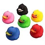 Zpong 6 PC-Set Baby-Spielzeug bunte Baby-Schwimmen Badeente Kleine gelbe Ente Kinder Badespielzeug spielen Pinch Entlein Called Jialele