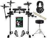XDrum DD-400 E-Drum-Set Komplettset mit Kopfhörer, Hocker, Schule und Sticks