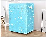 WKONAK Waschmaschine Abdeckung wasserdicht staubdichtlich und Anti-Aging-Sonnencreme Waschmaschine/Trocknerabdeckung für Frontlade-geeignet für 5-12kg Waschmaschine blau-Geeignet für 7,0 kg