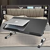 MULTIONS Verstellbarer Laptop-Bettisch mit USB-Ventilator, faltbarer Laptop-Schreibtisch, tragbares Laptop-Tablett, multifunktionaler Knietisch (M2)