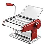 Anmy Pasta Roller Maker Machine Nudelmaschine Kleine Multifunktionsnudel-Presse-Manuelle Edelstahlteig-Walzgerät-Klotze Wonton-Hautmaschine (Farbe : Red, Size : One Size)