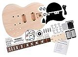 Rocktile DIY Double Cut Bausatz E-Gitarre - 'Do-it-yourself' E-Gitarre Bausatz - Double Cut-Style - Korpus: Mahagoni - Hals: Mahagoni geschraubt - Griffbrett: Blackwood