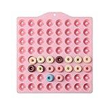 64-Hohlraum-Donut-Silikonformen, DIY-Kuchen-Form-Antihaft-Süßigkeit 3D-Form, Silikon-Donut Für Makronen-Kuchenbrotherstellung