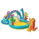 AFYH Planschbecken, Großer Kinder-Paddel-Aufblasbarer Pool-Park, mit Wassersprüheffekt und Rutsche, für Kinder drinnen und draußen, sommerliche Wasserunterhaltung,6
