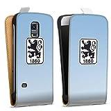DeinDesign Tasche kompatibel mit Samsung Galaxy S5 Mini Flip Case Hülle Weiß TSV 1860 München Offizielles Lizenzprodukt Wapp